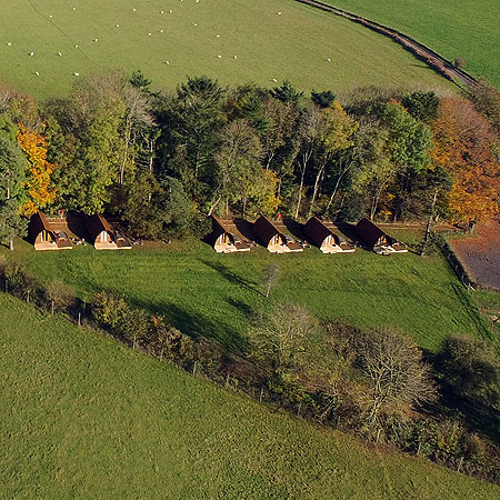 Glamping Aerial Photography