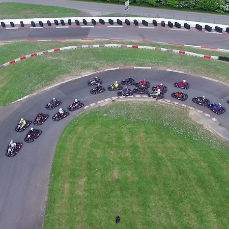 Karting Drone Photography